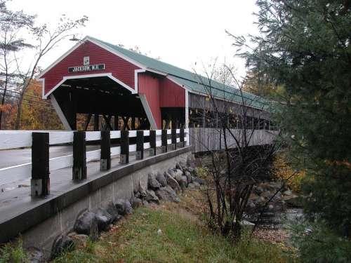 New Hampshire Jackson Covered Bridge Bridge Road