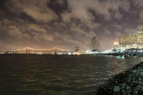 New Orleans Nola Mississippi Night Bridge City