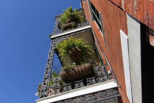 New Orleans Nola Sky Architecture Balcony Brick