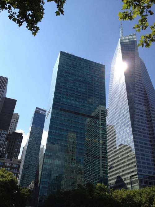 New York Height Skyscraper Buildings City