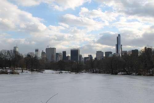 New York Skyline Buildings Urban Manhattan America