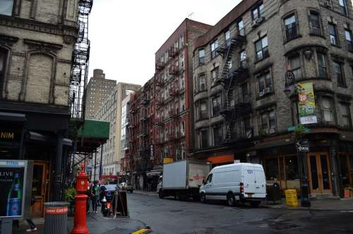 New York City Ny City Street Manhattan Downtown