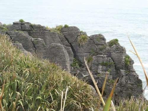 New Zealand Pancake Rocks Punakaiki Stones Cliff