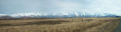 New Zealand Landscape Mountain Panoramic