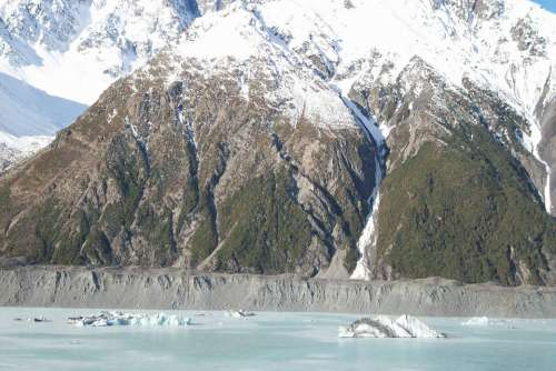 New Zealand Landscape Mountain Glacier