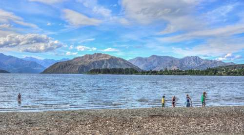 New Zealand Lake Wanaka Water Nature Summer