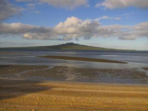 New Zealand Rangitoto Island Beach Sea Summer