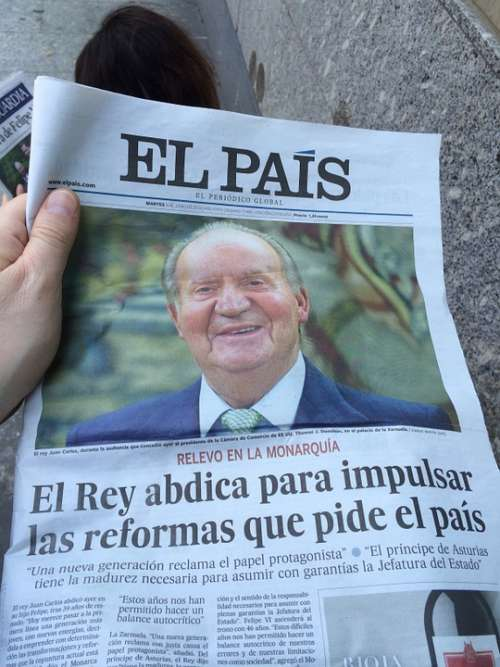 Newspaper News Spain King Posts Choice Innovation