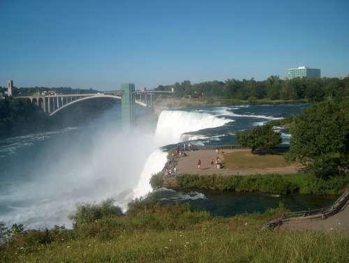Niagara Falls Waterfalls Canada Mist Landscape