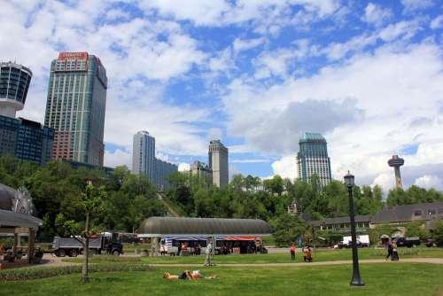 Niagara Falls Downtown Town Canada Ontario City