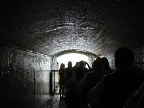 Niagara Falls Tunnel People Tourists Ontario