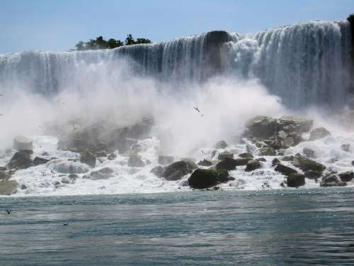 Niagara Falls American Falls Usa Waterfall Water