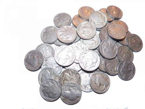Nickels Coins Money Loot Change Indian