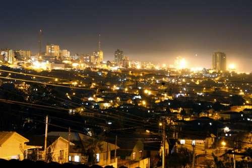 Night City Lighting Lights Flash Illuminated