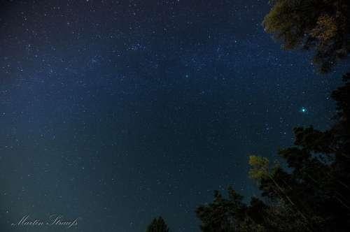Night Star Milky Way Night Sky Sky
