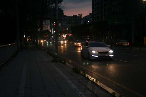 Night View Road Driveway Daegu