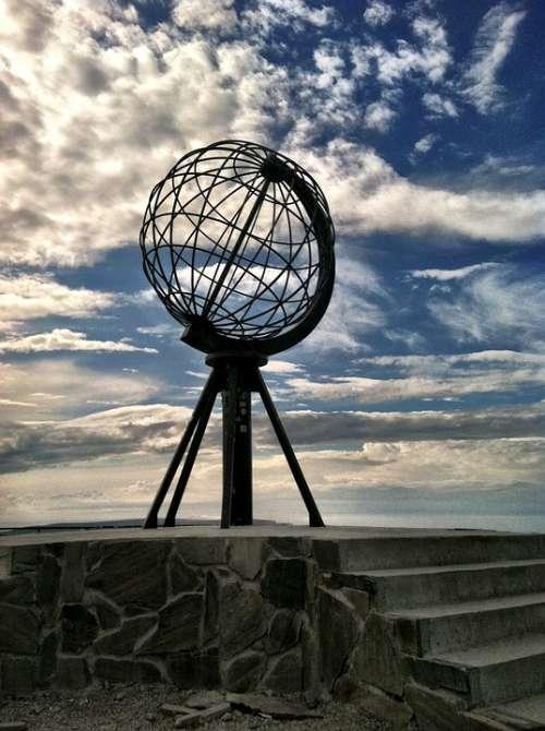 North Cape Norway Globe Sky
