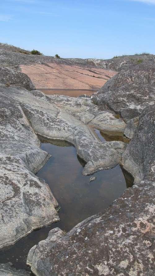 North Uppland Gräsö Cliffs Rock Pools Coastal