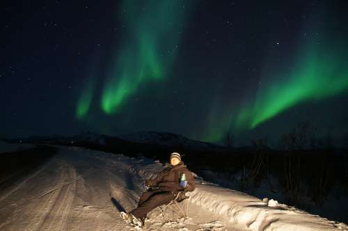 Northern Lights Aurora Borealis Green Violet