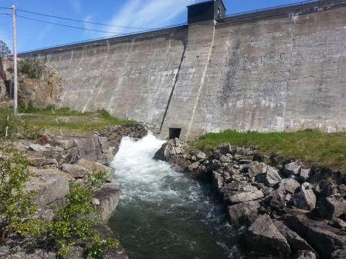 Norway Dust Water Fors Stream Fells Summer