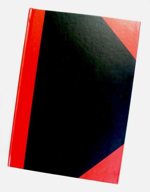 Notebook Notes Corner Red Black