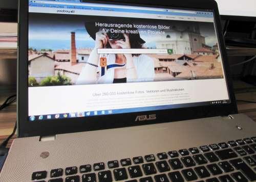 Notebook Web Page Laptop Internet Pixabay Asus