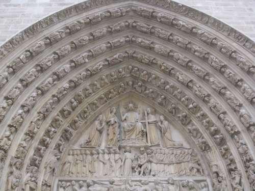 Notre Dame Arch Paris France Architecture Europe