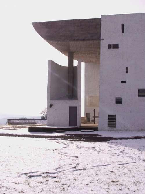 Notre-Dame You Skin De Ronchamp Ronchamp Chapel Snow