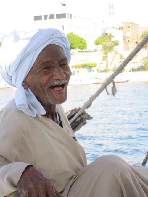 Nubians Nubia Egypt Nile Felucca Old Man Face