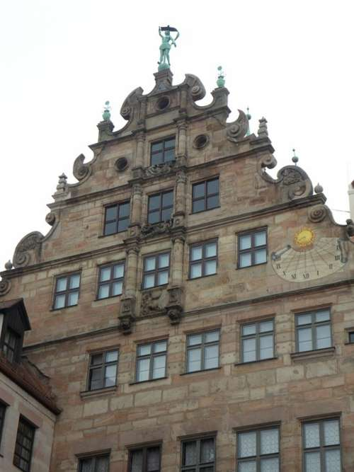 Nuremberg Historic Center Building House Facade