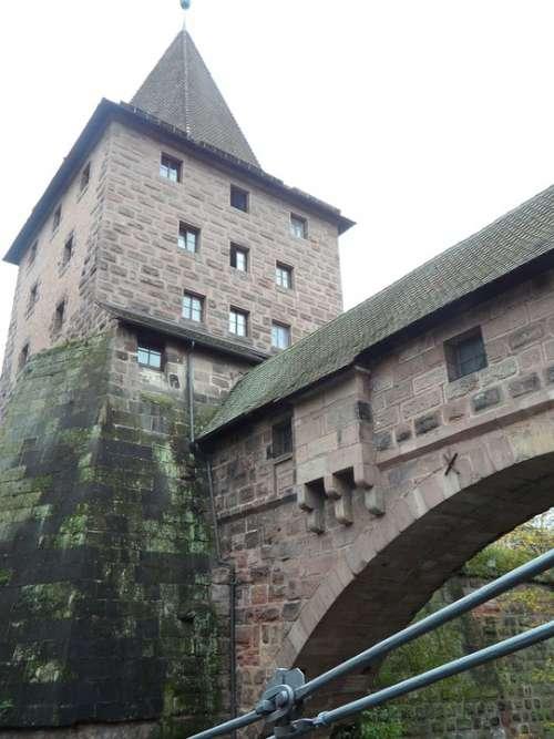 Nuremberg Tower Trutzig Masonry Old Bridge