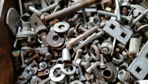 Nuts Bolts Metal Steel Construction Screw