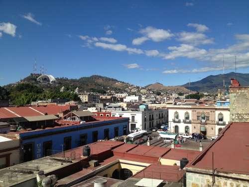 Oaxaca City Houses Mexico Colonial