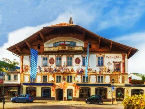Oberammergau Bavaria Hotel Restaurant Architecture