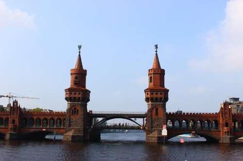 Oberbaumbrücke Spree Berlin Bridge Architecture
