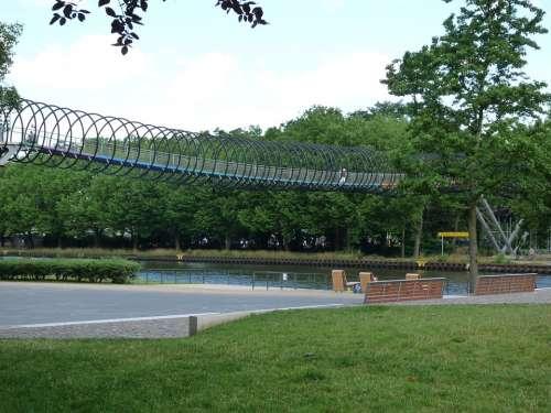 Oberhausen Rae Bridge Ruhr Area Rheinland Channel