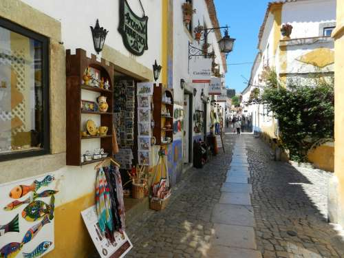 Obidos Portugal City Houses