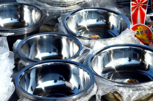 Objects Bowls Stainless Stainless Steel Bowl Metal