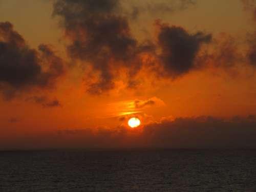 Ocean Norway Sunset Sky Dawn Dusk Twilight