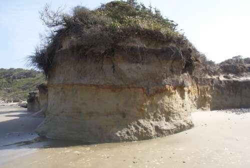 Ocean Erosion Beach Windswept Coast Sea Oregon