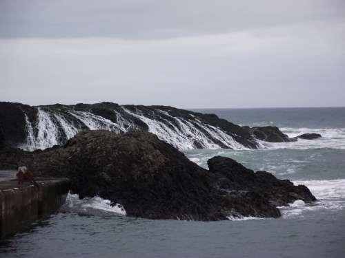 Ocean Water Rocks Sea Rock Landscape