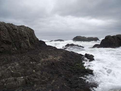 Ocean Water Rocks Sea Rock The Cliffs Landscape