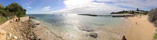 Ocean Panorama Sea Beach Sun Sunny Sand