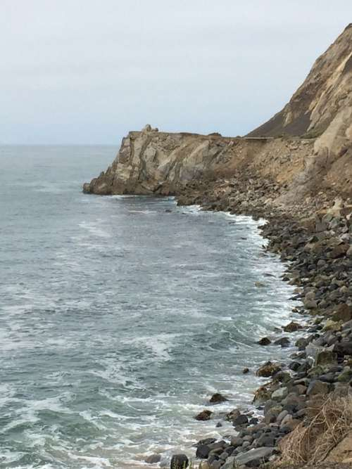 Ocean Sea Magu Cliff Water Beach Nature Blue