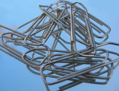 Office Paper Clips Several Metal