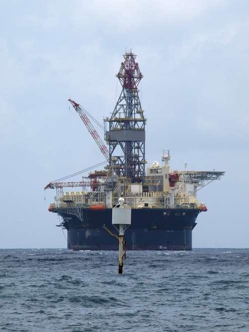 Oil Rig Technology Sea Ocean Boje Water Sky Ship