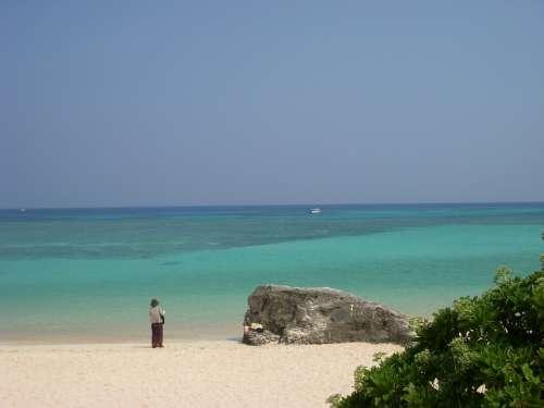 Okinawa Japan Blue Sea Hateruma Island Beach