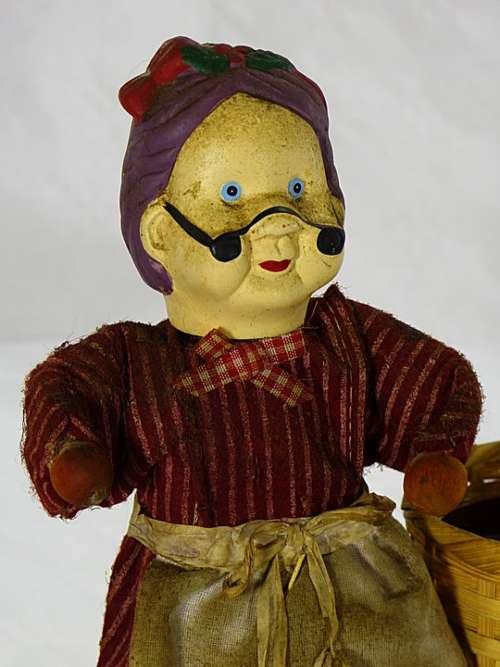 Old Woman Rural Field Peasant Costume Doll
