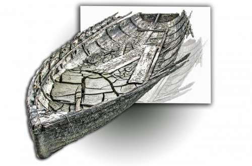 Old Ship Boat Mud Broken Abandoned Sad