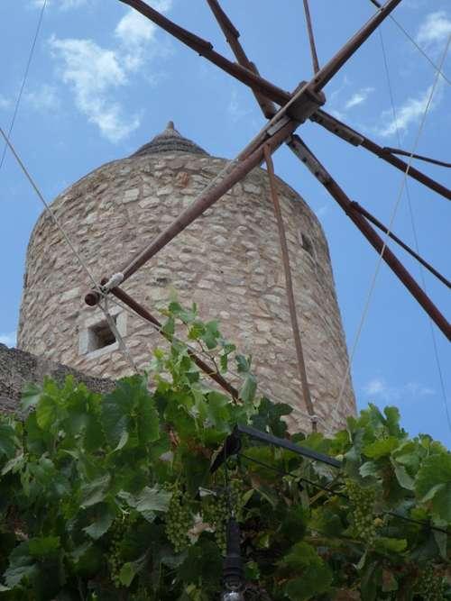 Old Old Mill Windmill Landmark Mallorca